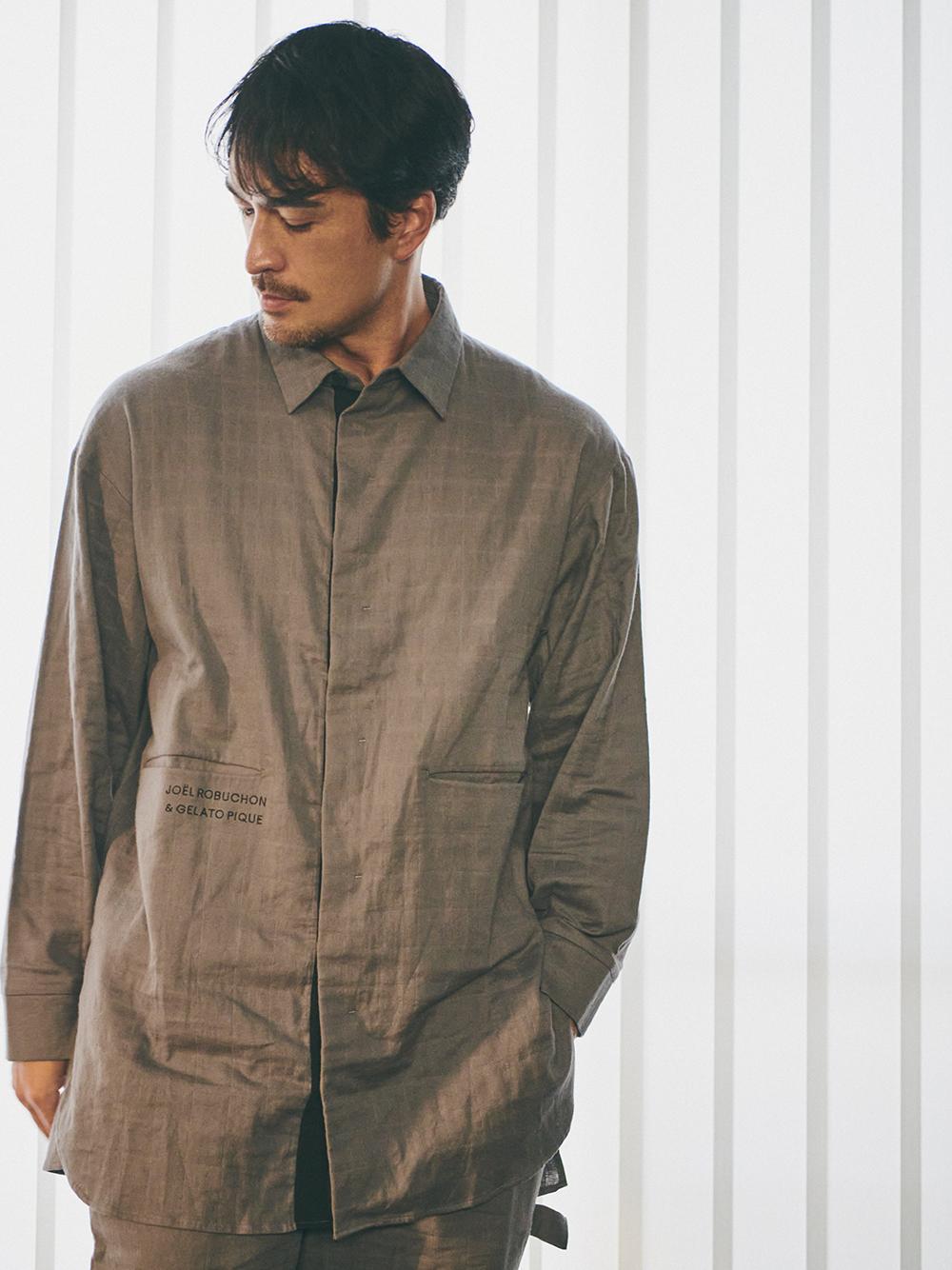【Joel Robuchon & gelato pique】HOMMEガーゼシャツ | PMFT211993
