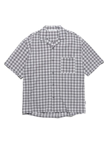 【GELATO PIQUE HOMME】オーガニックコットンギンガムチェックシャツ | PMFT212915