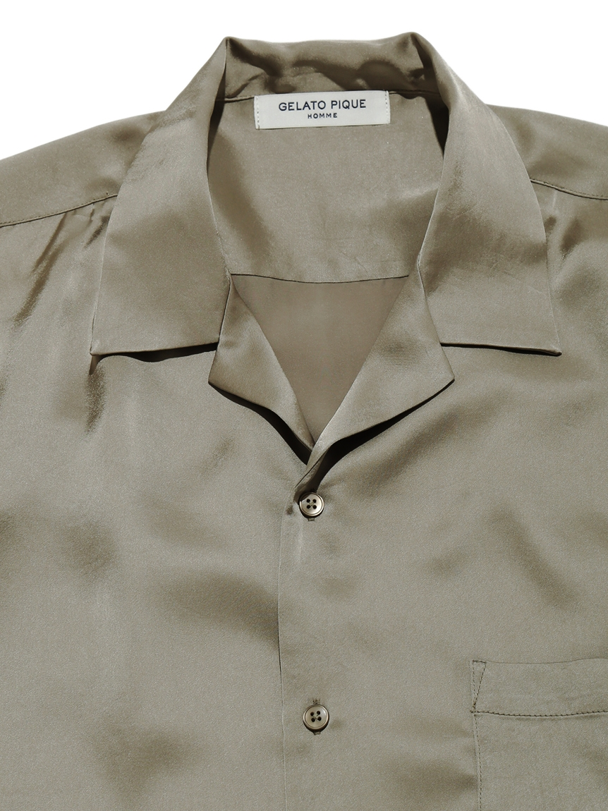 【GELATO PIQUE HOMME】ソアロンサテンシャツ   PMFT212932