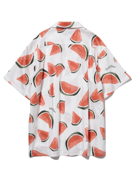 【GELATO PIQUE HOMME】フルーツアロハモチーフシャツ | PMFT212954