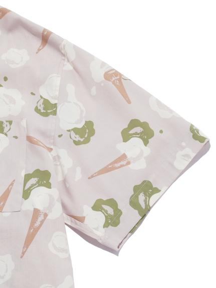 【GELATO PIQUE HOMME】アイスモチーフシャツ | PMFT212969