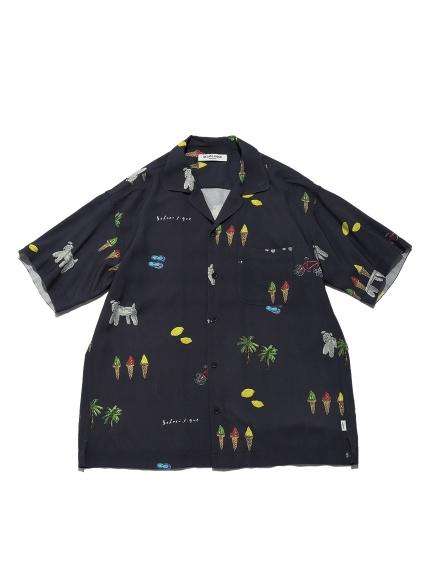 【GELATO PIQUE HOMME】サマーモチーフシャツ | PMFT212971