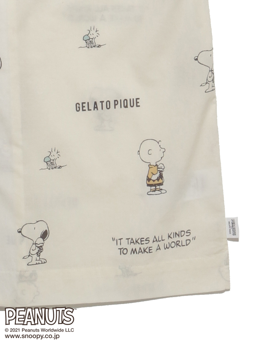【PEANUTS】 HOMME モノグラムシャツ | PMFT212984