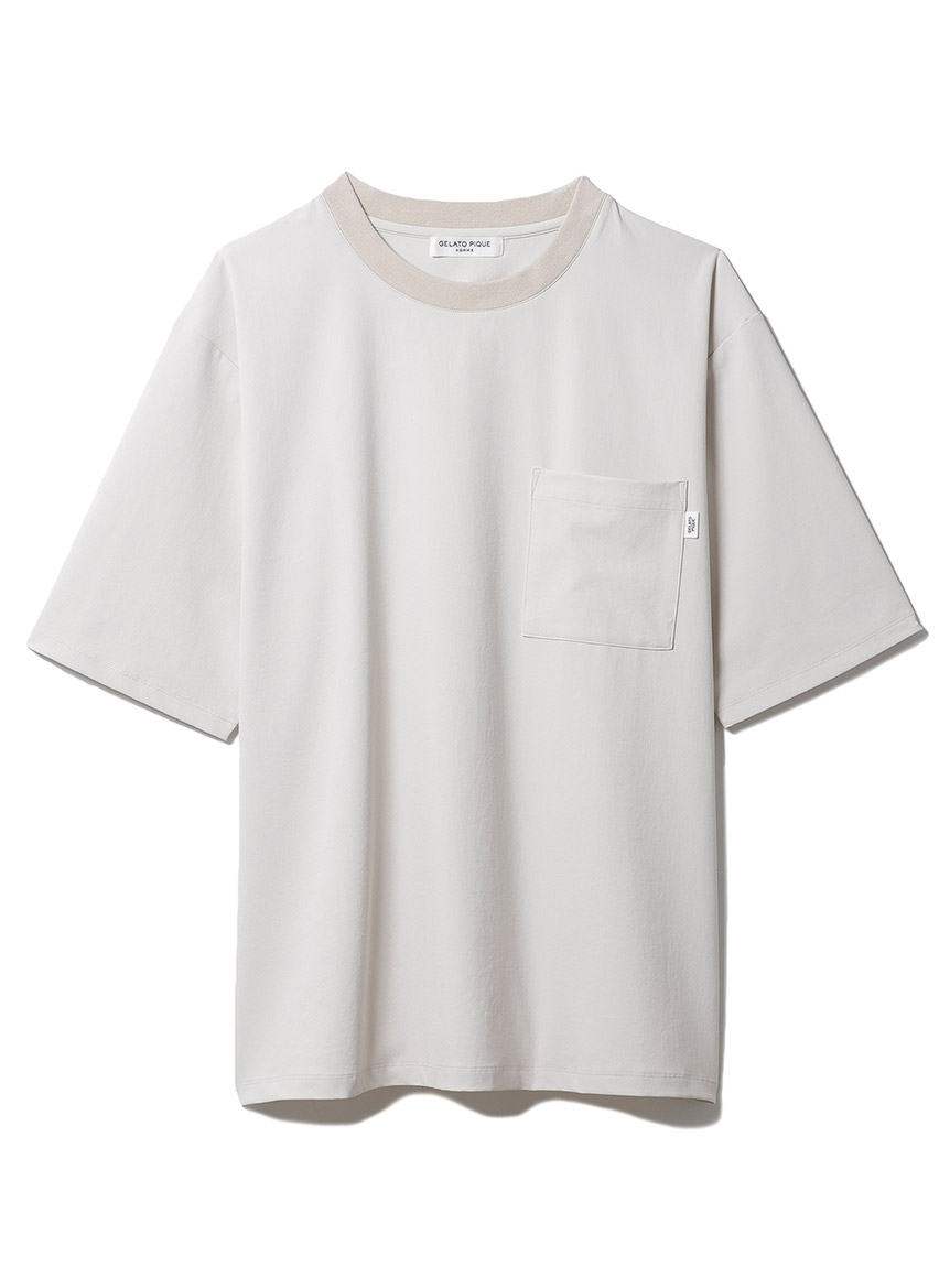 【GELATO PIQUE HOMME】 ストレッチTシャツ   PMFT214921