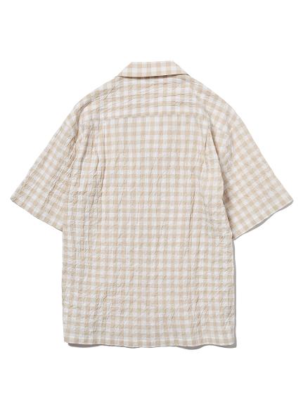 【ラッピング】【HOMME】オーガニックコットンギンガムチェックシャツ&ロングパンツSET | PMFT219191