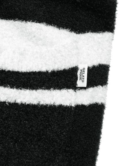 【GELATO PIQUE HOMME】'スムーズィー'ボーダーハーフパンツ   PMNP211910
