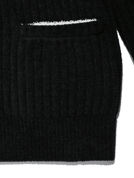 【Joel Robuchon & gelato pique】 HOMME 'スフレ'リブショールカーディガン | PMNT205947