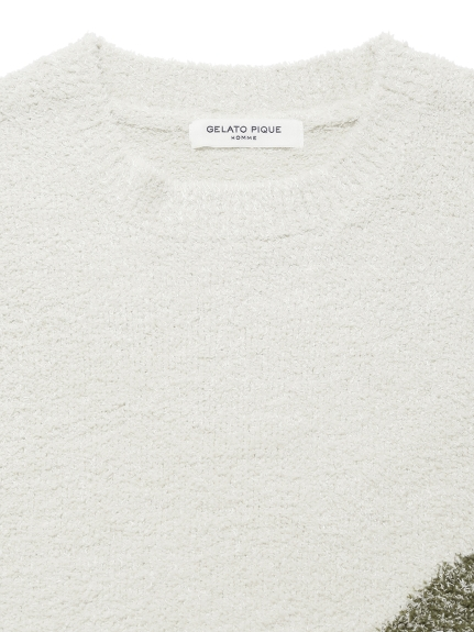 【GELATO PIQUE HOMME】'リサイクルバンブー'ジャガードプルオーバー | PMNT211918