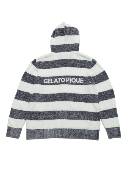 【GELATO PIQUE HOMME】'スムーズィー'メランジ2ボーダーパーカ | PMNT212900