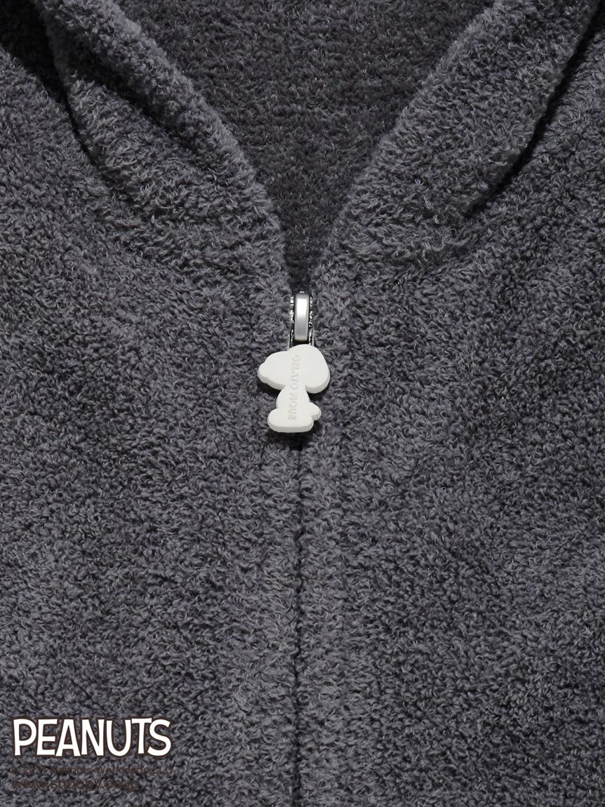 【PEANUTS】 HOMME ロゴジャガードパーカ | PMNT212917