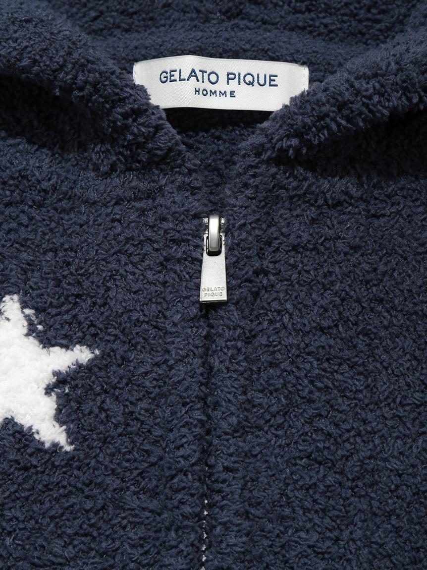 【GELATO PIQUE HOMME】 スタージャガードパーカ | PMNT214144