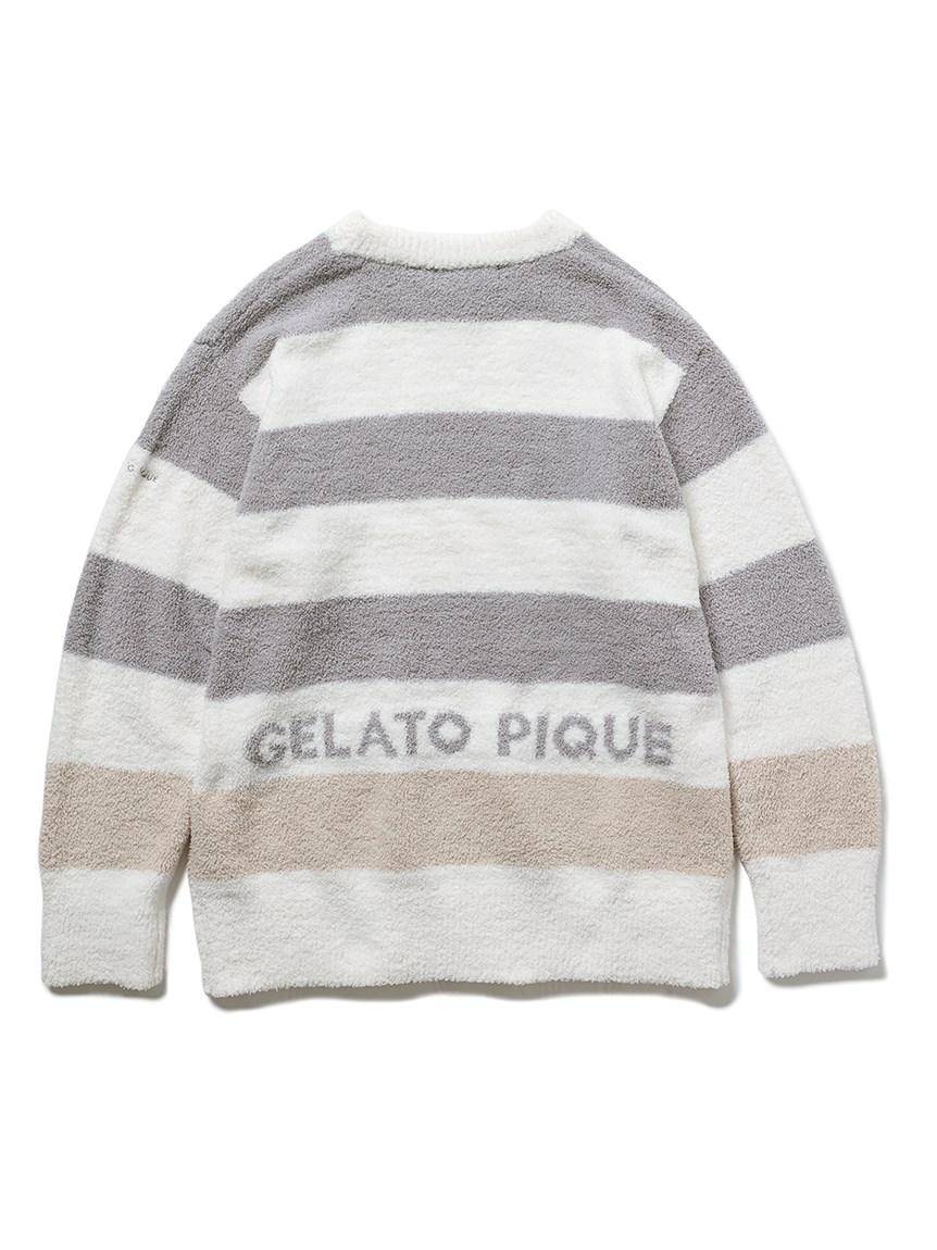【GELATO PIQUE HOMME】パウダートリムボーダープルオーバー   PMNT215906