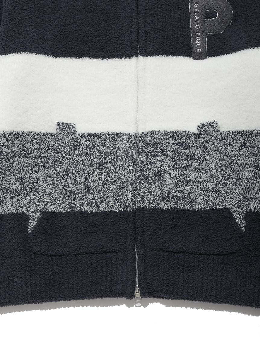 【ラッピング】【HOMME】ベビモコ'メランジボーダーパーカ&ロングパンツSET | PMNT219294