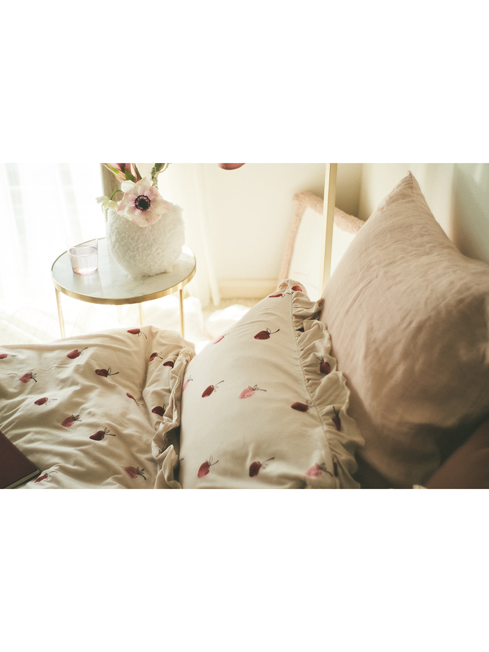 【Sleep】(ダブル)ストロベリーモチーフ3点SET | PSGG211004