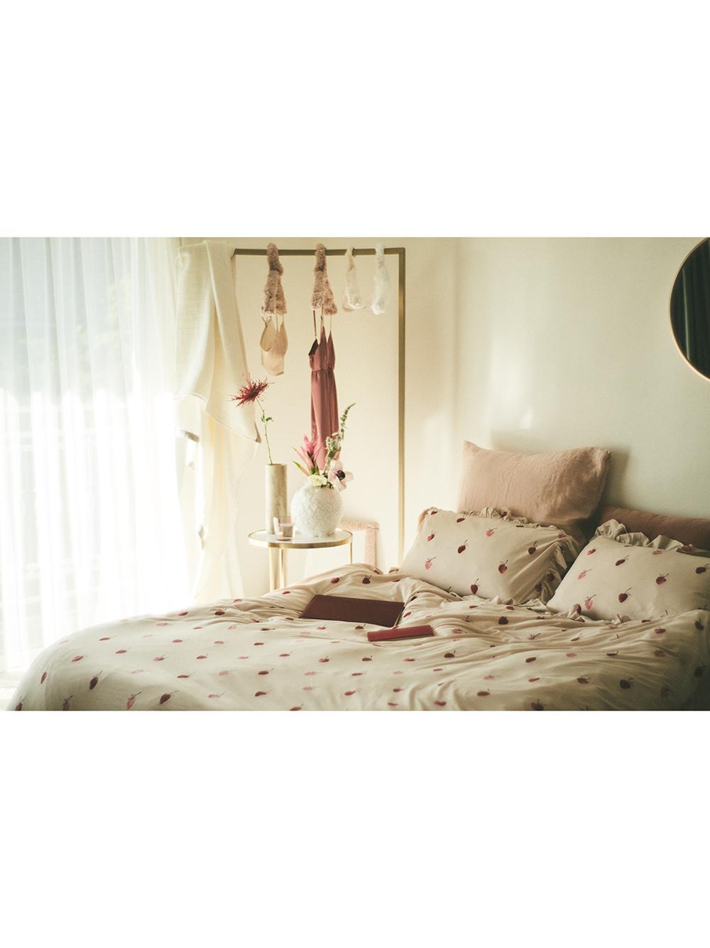 【Sleep】ストロベリーモチーフ枕カバー | PSGG211014