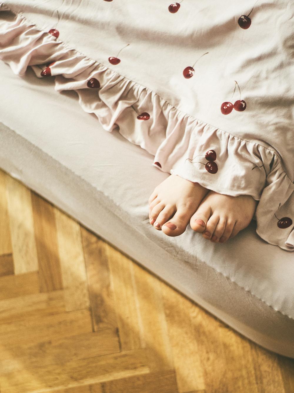 【Sleep】(ダブル)チェリーモチーフ掛け布団カバー | PSGG211023
