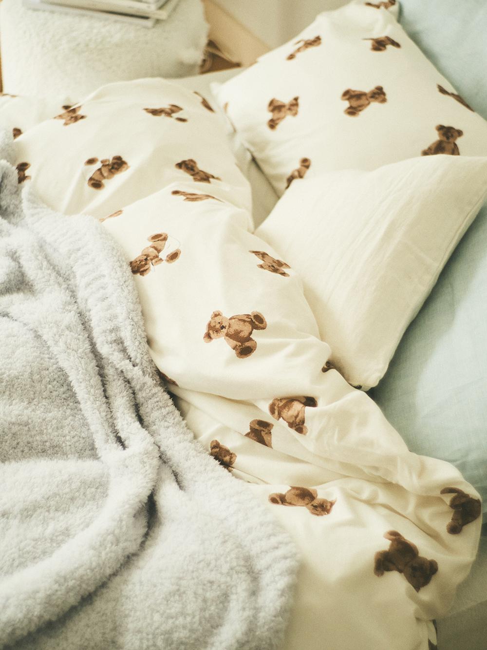 【Sleep】(セミダブル)ベアモチーフ掛け布団カバー | PSGG211035