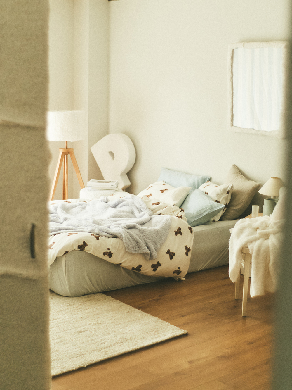 【Sleep】ベアモチーフ枕カバー | PSGG211040