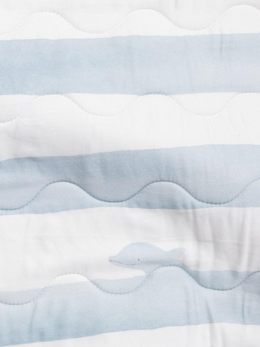 【Sleep】(ダブル)イルカボーダーCOOL敷パッド | PSGG212844