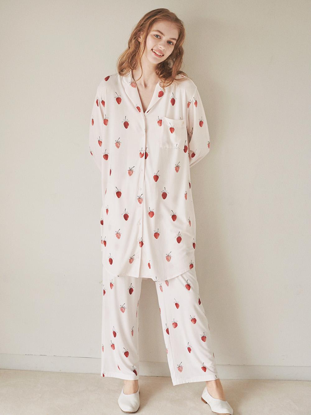 ストロベリーモチーフシャツドレス | PWCO211227