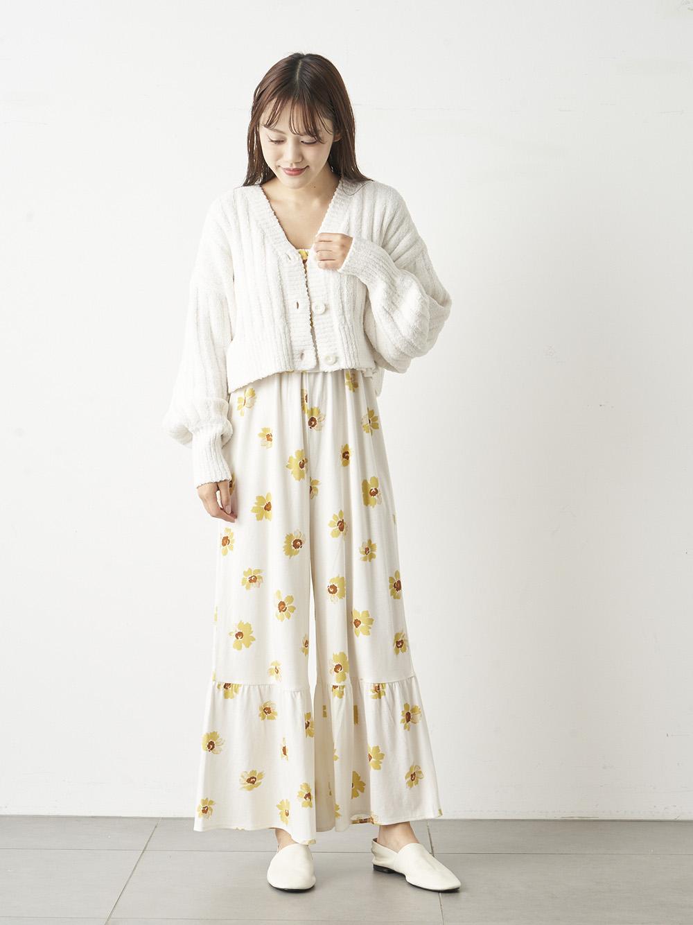 ペイントフラワーロングスリーブドレス   PWCO211235