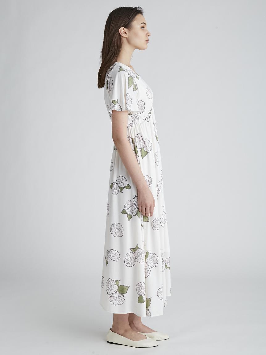 【オフィシャルオンラインストア限定】【ミュシャと椿姫】椿柄ドレス | PWCO211351