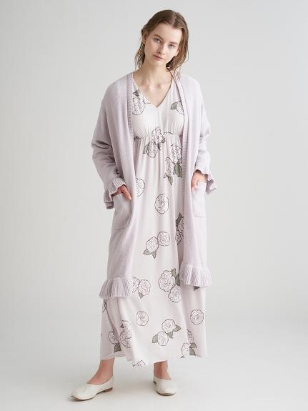 【ミュシャと椿姫】椿モチーフロングスリーブドレス | PWCO211352