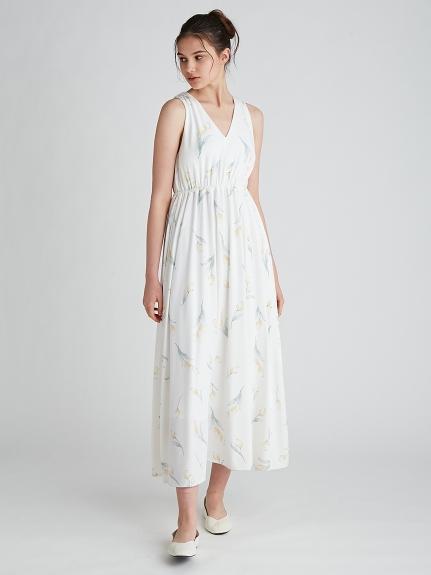 リップフラワーモチーフノースリーブドレス | PWCO212223