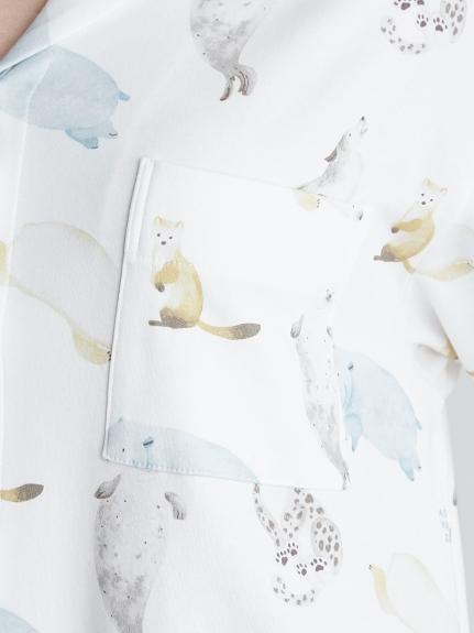 【旭山動物園】アニマルモチーフシャツドレス | PWCO212321