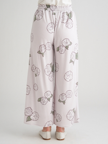 【ミュシャと椿姫】椿ロングパンツ | PWCP211350