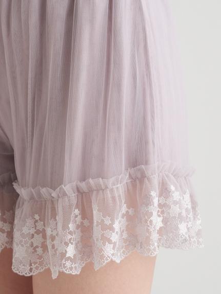 【ミュシャと椿姫】スターレースショートパンツ | PWCP211370