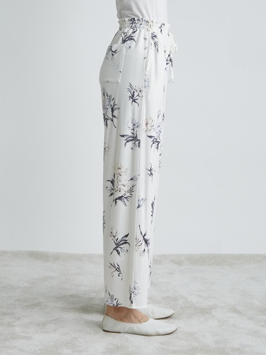 中花柄ロングパンツ   PWCP214282