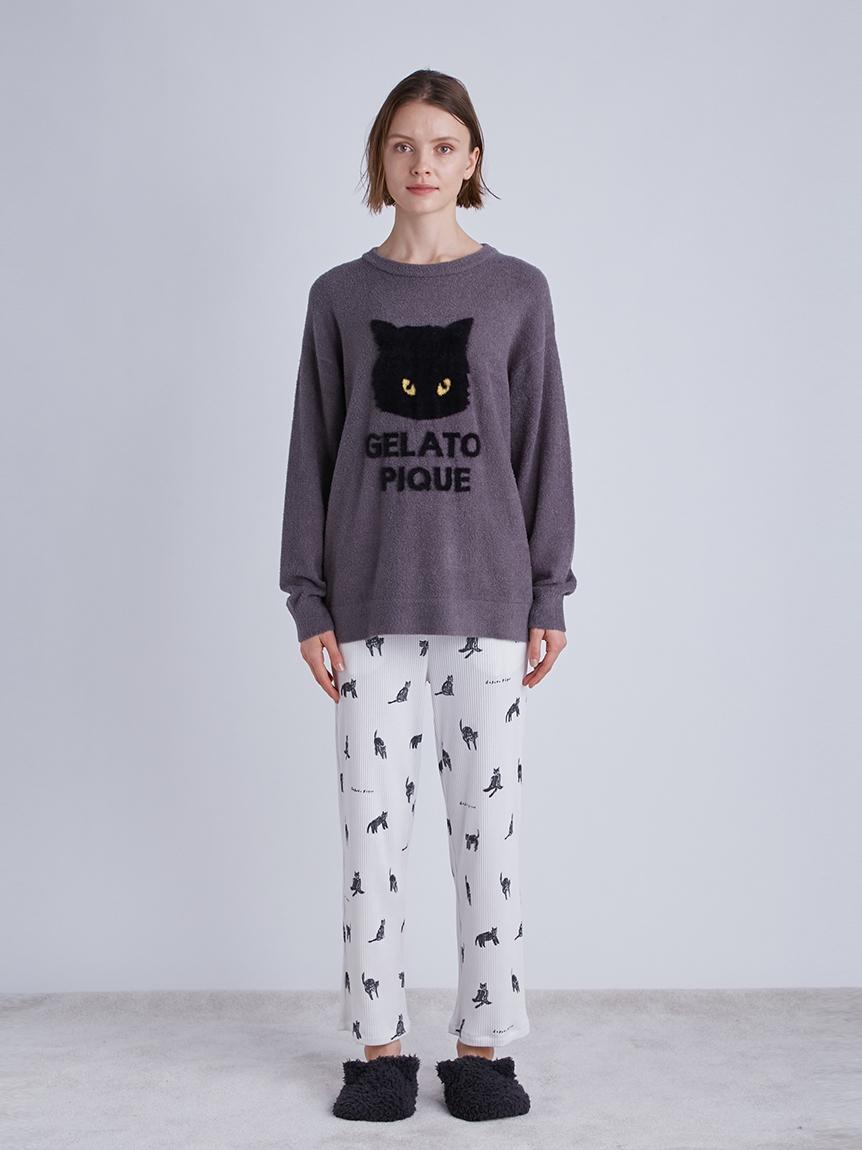 【Halloween限定】クロネコモチーフロングパンツ | PWCP214298