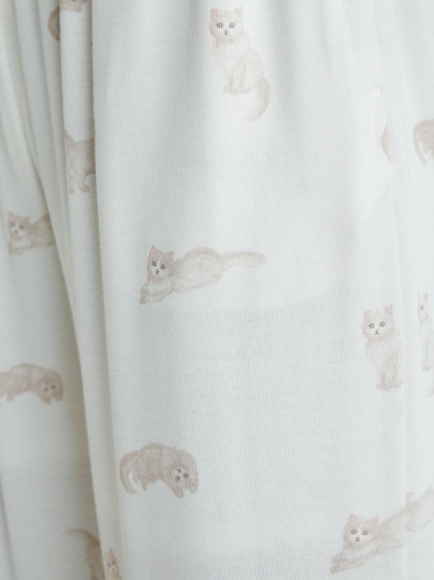 ネコ柄ロングパンツ   PWCP215207