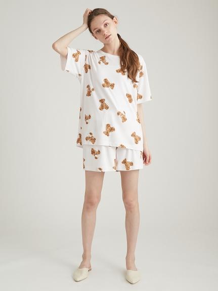 ベアモチーフ抗菌防臭Tシャツ | PWCT211212