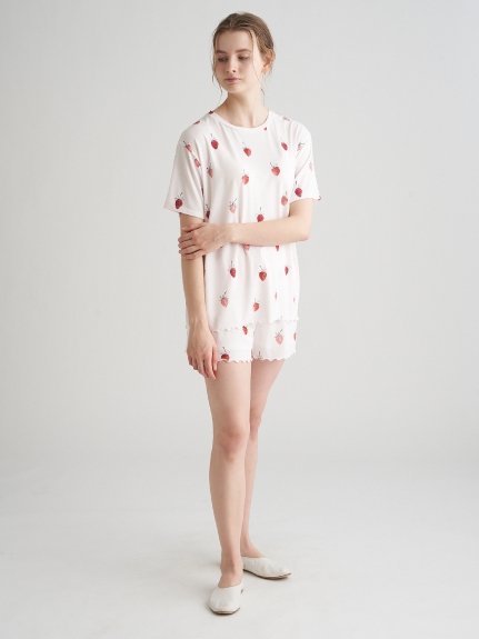 ストロベリーモチーフTシャツ | PWCT211229
