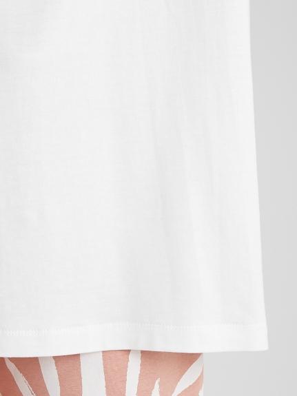 リネンミックスレーヨンロゴTシャツ | PWCT211299