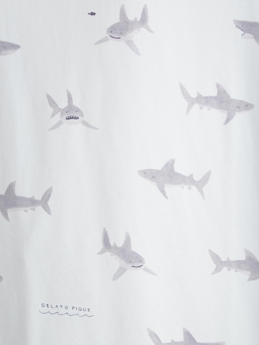 【オフィシャルオンラインストア限定】シャーク柄プルオーバー&ショートパンツ&巾着SET   PWCT211314
