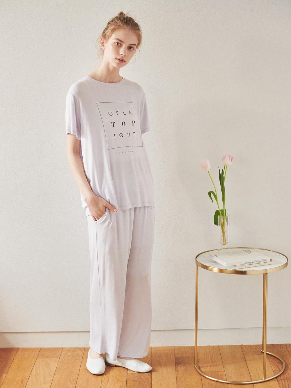 トーンアップカラーレーヨンロゴTシャツ   PWCT211348