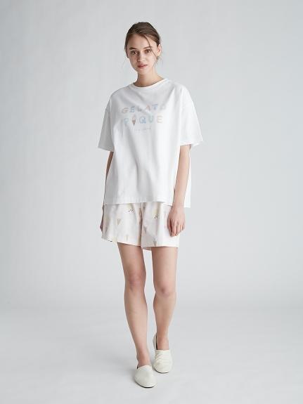 アイスクリームロゴワンポイントTシャツ | PWCT212212