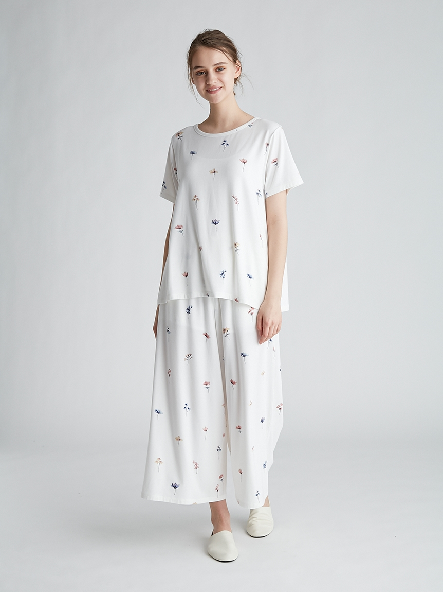 ポッピンフラワーモチーフTシャツ | PWCT212219
