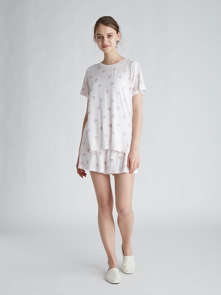 ハートモチーフTシャツ | PWCT212344