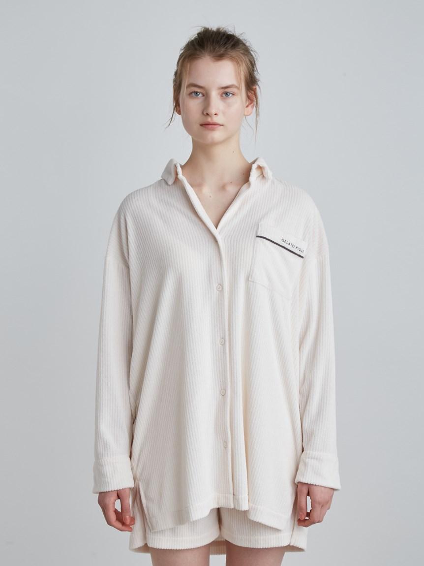 パイルリブシャツ   PWCT214219