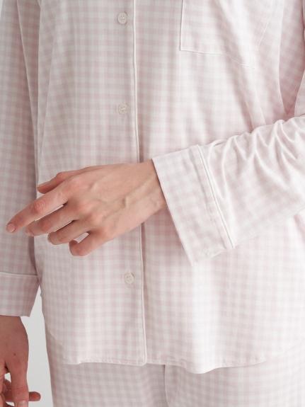 【ラッピング】ギンガムモダールシャツ&ロングパンツSET | PWCT219074
