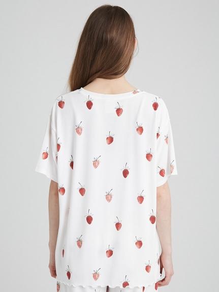 【ラッピング】ストロベリー柄Tシャツ&ショートパンツSET | PWCT219126