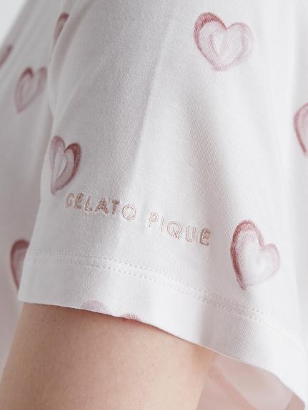 【ラッピング】ハート柄Tシャツ&ショートパンツSET   PWCT219215