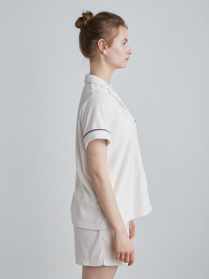 【ラッピング】パイルリブ半袖シャツ&ショートパンツSET | PWCT219285