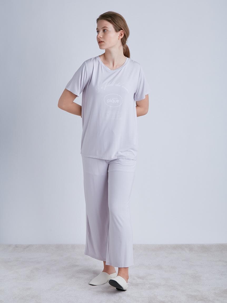 【ラッピング】ピケロゴワンポイントTシャツ&ロングパンツSET   PWCT219289