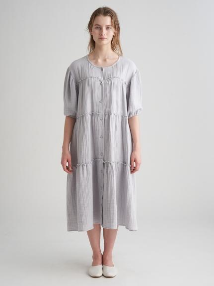 マタニティガーゼティアードドレス | PWFO211333