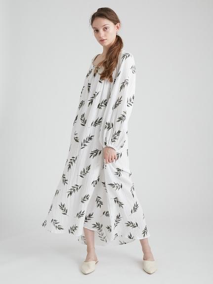 オリーブモチーフスリットドレス | PWFO211358